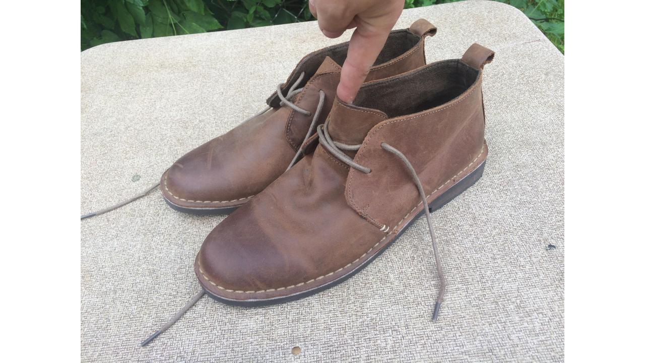 Men's Leather Chukkas -- Merona Ankle Boots, VGC!