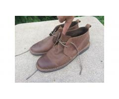 Men's Leather Chukkas -- Merona Ankle Boots, VGC!