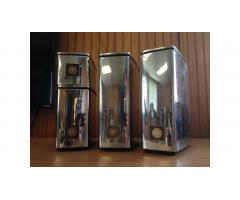 Vintage Kitchen Canisters -- Chrome, Very Cool!
