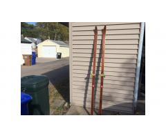 Vintage Wood Cross Country Skis -- Beautiful Pair!
