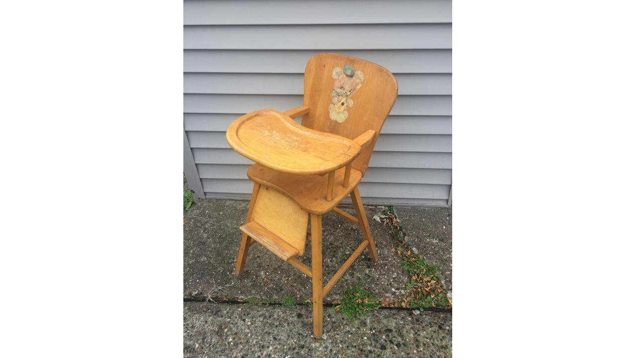 Wood High Chair -- Low Price, Re-paint?