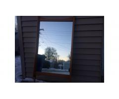 Mid-Century Mirror -- Large Wall Mirror, Great Lines!