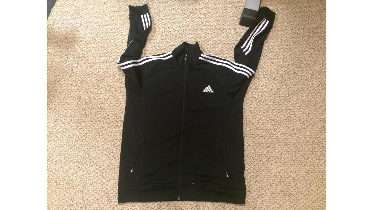 Adidas Warm Up Jacket -- Classic Black Front XL!