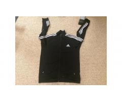 Adidas Warm Up Jacket -- Classic Black Front XL!