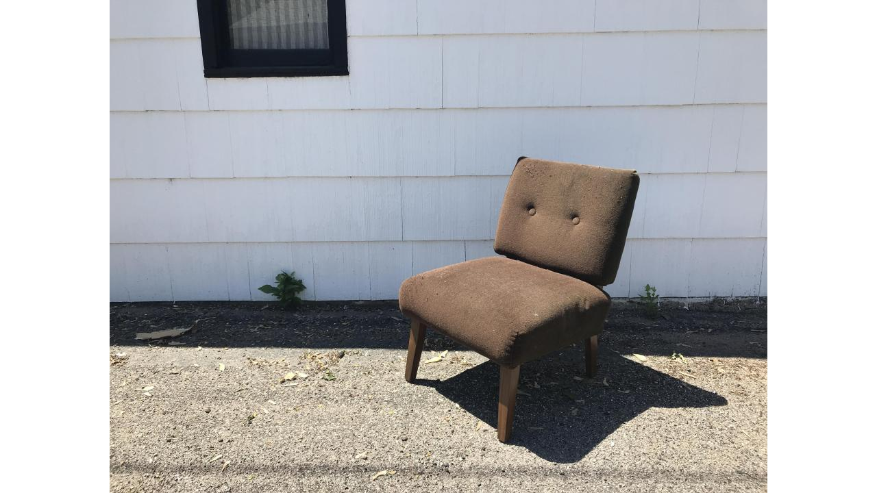 Mid-Century Low Chair -- Handsome Chair, Very Comfortable!