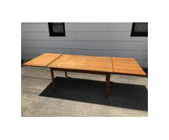 Mid-Century Teak Dining Table -- Large, Beautiful Lines!