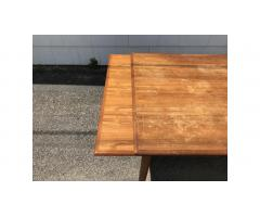 Mid-Century Teak Dining Table -- Large, Beautiful Lines!