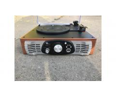 Small Record Player Turntable -- Built-in Speakers!