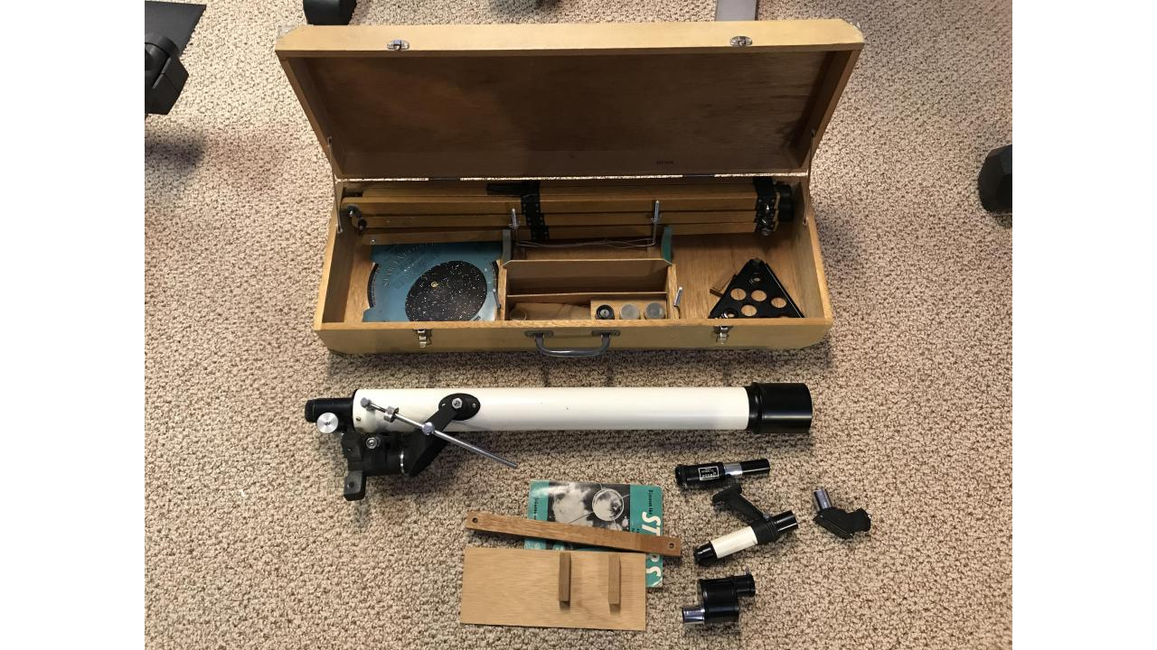 Vintage Jason Jupiter Telescope Kit -- Wood Stand, Hard to