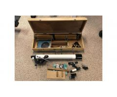 Vintage Jason Jupiter Telescope Kit -- Wood Stand, Hard to Find!