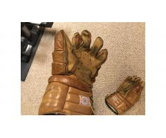 Vintage Hockey Gloves -- Very Cool, Great Gift!