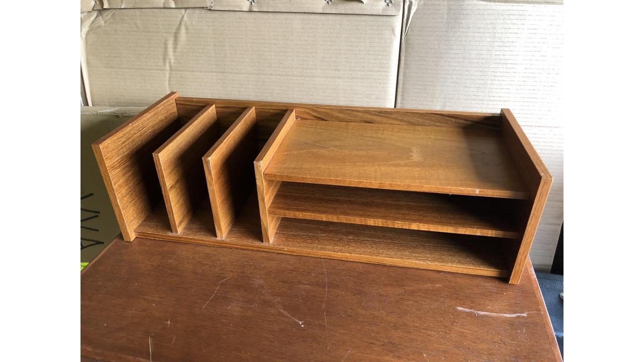 Danish Modern Mail Sorting Shelf -- Neat Piece!