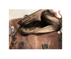 Suede Leather Gym Duffel Bag - Excellent!