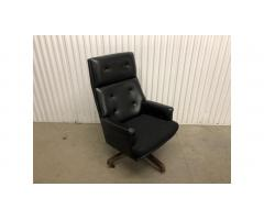 Vintage HON High Back Office Chair - Black, Mid Century!