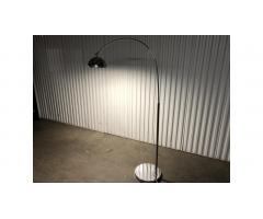 Possini Euro Erico Chrome Arc LED Floor Lamp