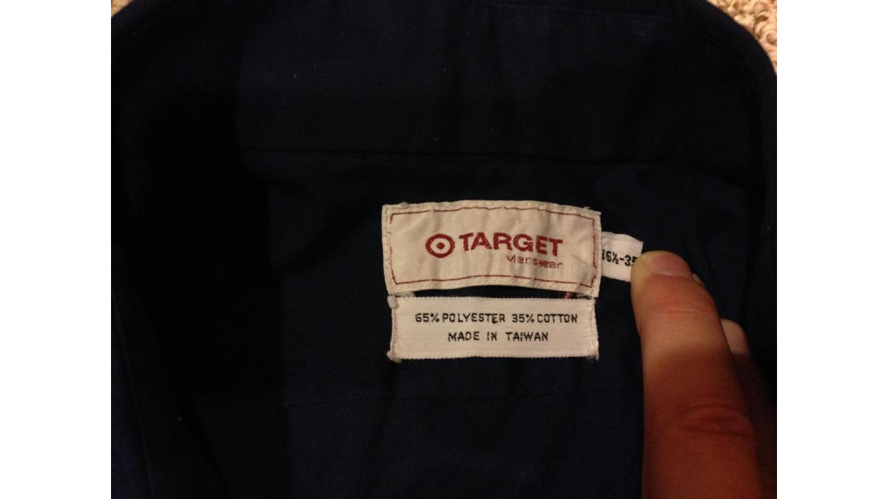 Vintage Target Menswear Brand Shirt - EXTREMELY RARE!