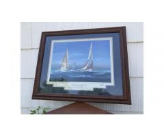 Yachts of the America's Cup Print -- Hard to Find!