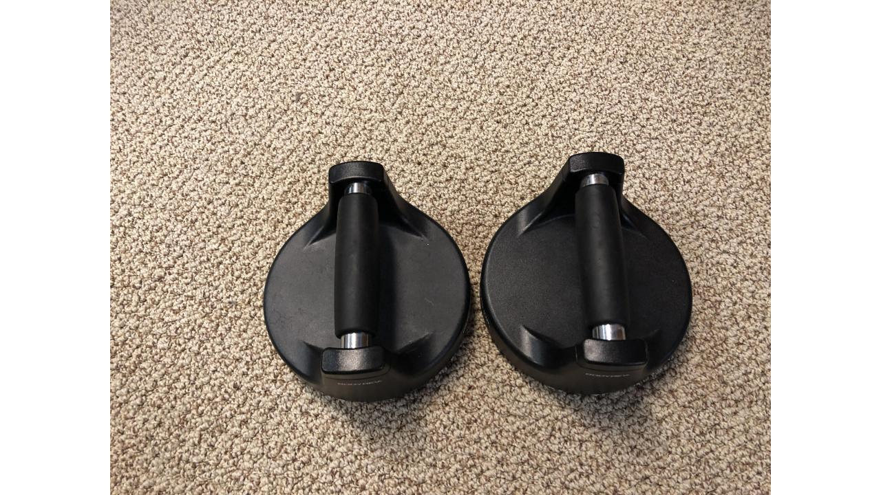 Perfect Pushup Stands -- Rotating Stands, Very Helpful!